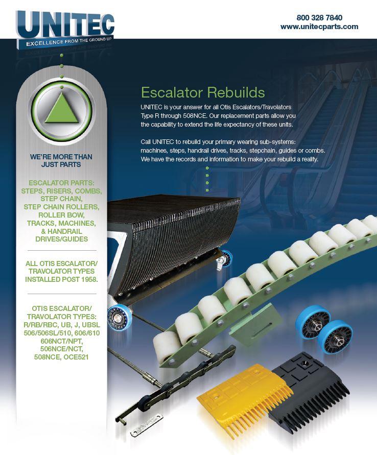 Unitec Parts | Elevator and Escalator Systems & Parts